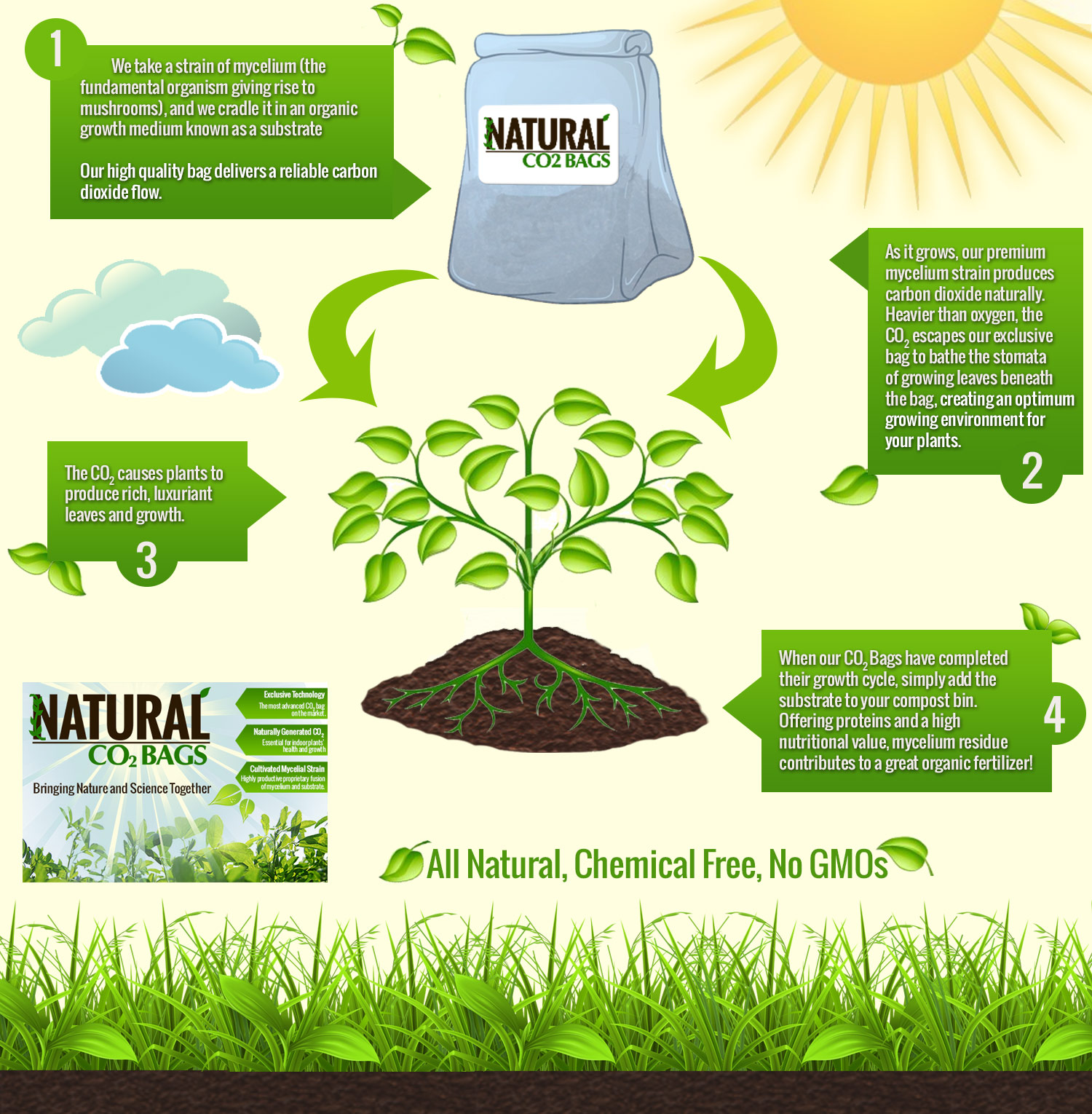 How does CO2 in a Grow Tent Works  sc 1 st  Natural CO2 Bags & How CO2 Bags Work Natural Generation of CO2 using Organic ...